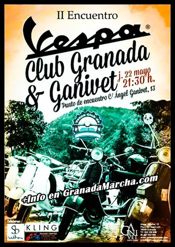 2º encuentro Vespa Club Granada en Ganivet