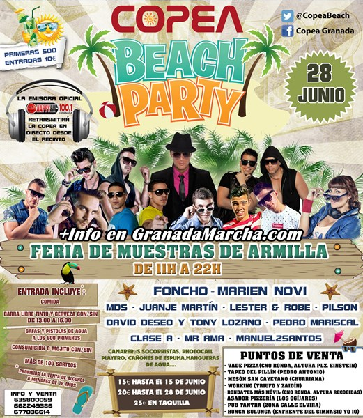Copea Beach Party en Feria de Muestras, Armilla