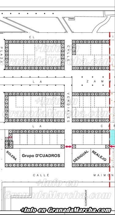 Mapa Casetas Discotecas, Feria Corpus 2014, Granada