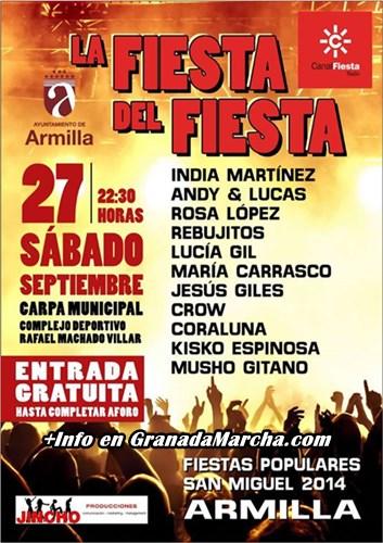 Concierto Canal Fiesta Fiestas de Armilla