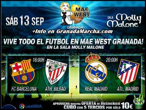 Real Madrid - Atlético Madrid en Mae West Granada