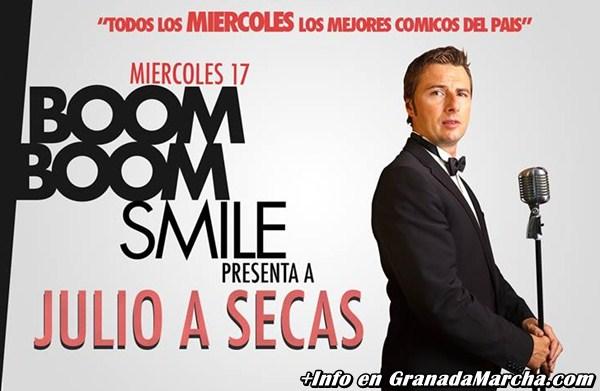Julio a secas, Monólogos en Boom Boom Room Granada