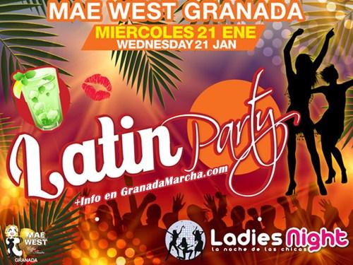 Fiesta Ladies Night y Erasmus en Mae West Granada