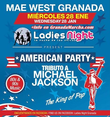 Tributo a Michael Jackson en Mae West Granada, Ladies Night