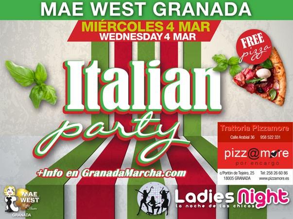 Italian Party en Mae West Granada