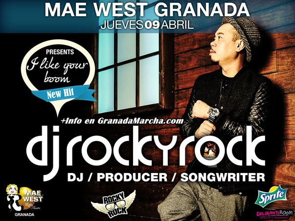 Abril con Dj Rocky Rock en Mae West Granada