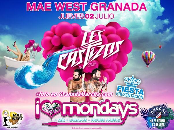 Les Castizos, fiesta presentación I Love Mondays en Mae West Granada