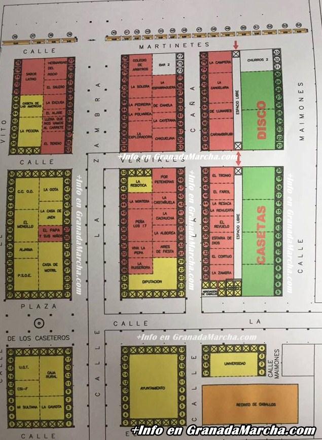 Mapa Casetas Feria de Granada 2016