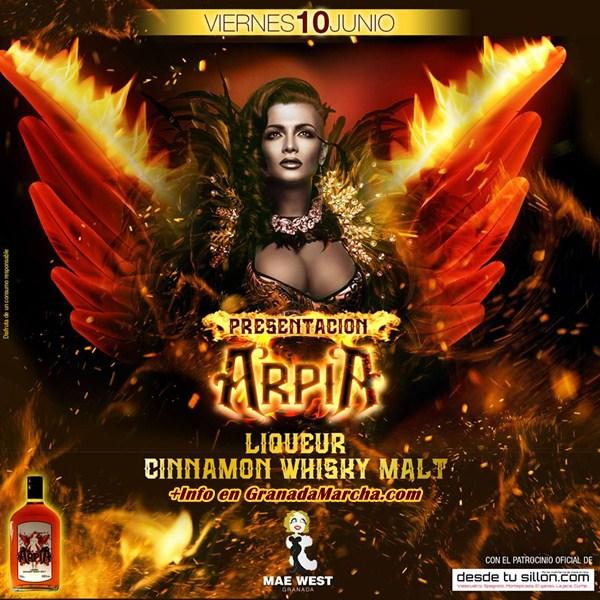 Presentación de Arpia en Mae West Granada con Rubén Bonel