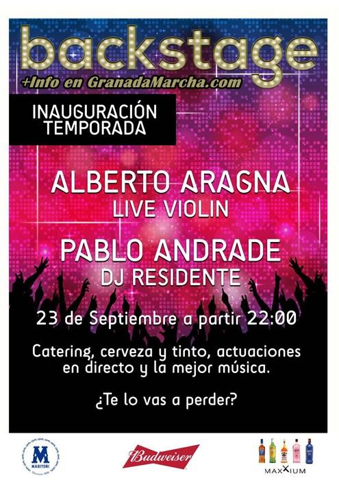 Inauguración temporada Backstage con Alberto Aragna