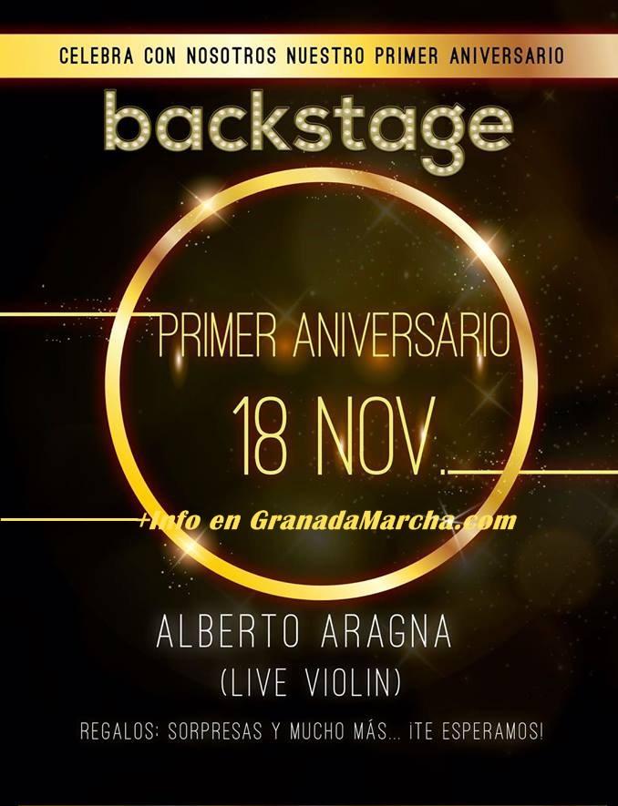 Primer Aniversario Discoteca Backstage con Alberto Aragna