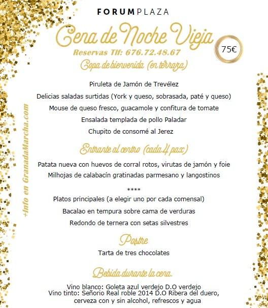 Cena de Nochevieja 2016 con espectáculo en Forum Plaza