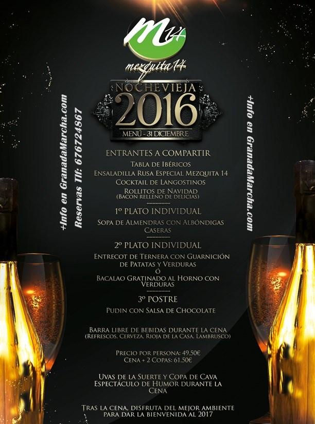 Nochevieja 2016 con Cena en Granada