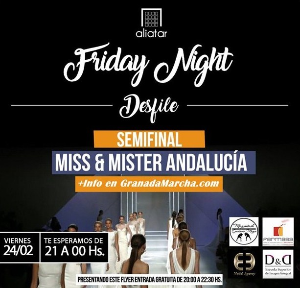 Desfile Miss Andalucia y Mister Andalucia 2017, semifinales