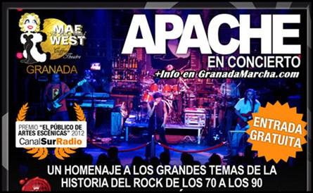 Todos los miércoles Apache en Mae West Granada