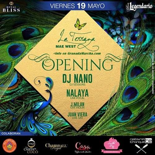 Inauguración La Terraza de Mae West Granada 2017
