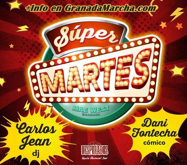 Supermartes de Monólogos en Mae West Granada con Dani Fontecha y Carlos Jean