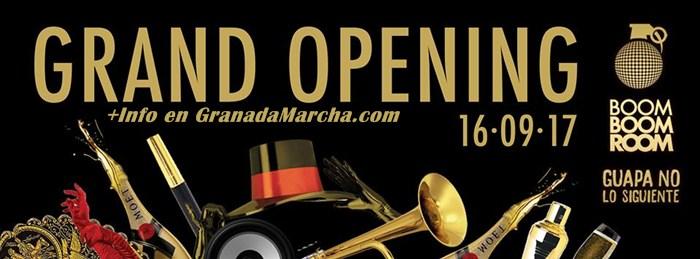 Fiesta apertura 2017-2018 Boom Boom Room Granada